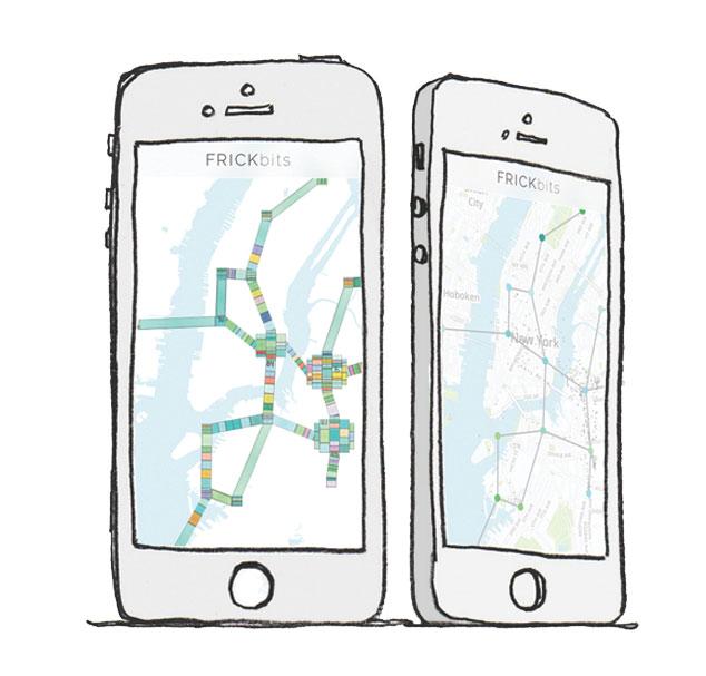 位置情報をアートに変える!iPhoneアプリ「FRICKbits」に大注目
