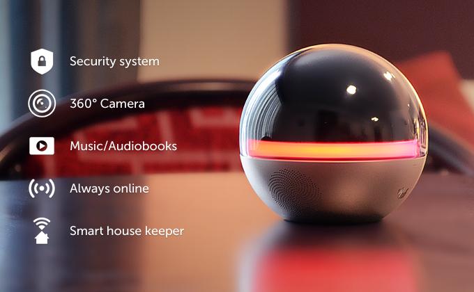 小さなオーブが家庭を守る!? 360°カメラ付きのホームセキュリティデバイス「Branto」