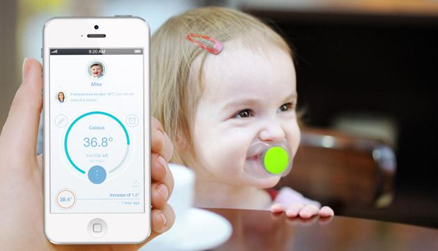 あなたの赤ちゃんの健康を守る体温計付きおしゃぶり「Pacifi」