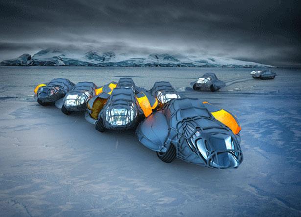 極寒でも平気です。南極でも快適に過ごせるコンセプトカー「Antarctic Research Unit」