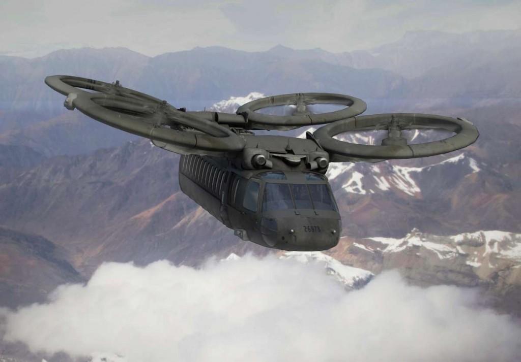 これってドローン?いえいえ、次世代型軍用ヘリです