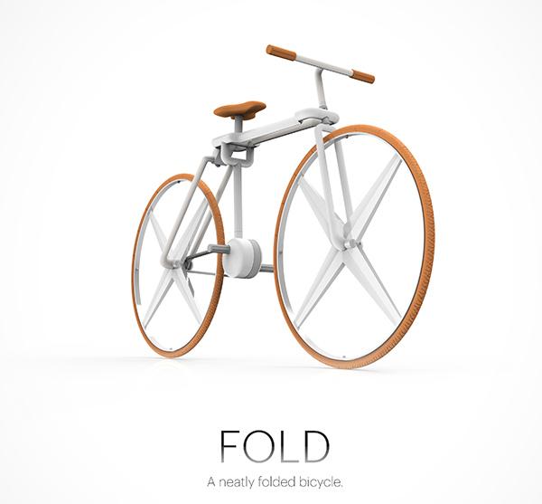 超コンパクトな折りたたみ自転車「Fold Bike」