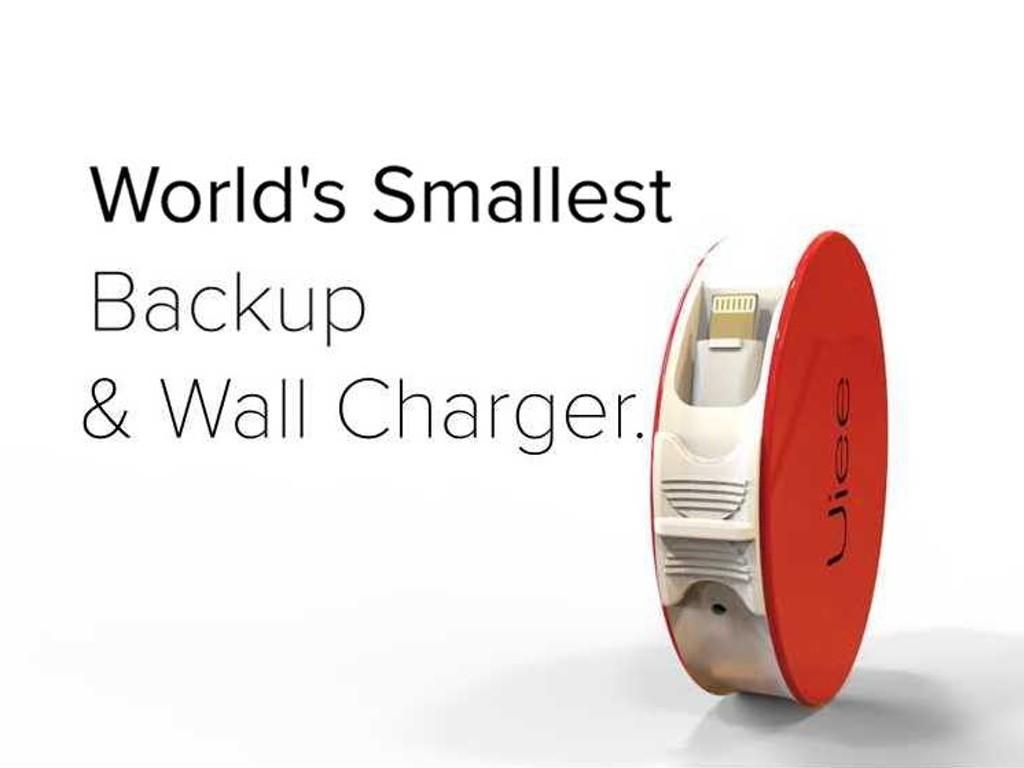 コンパクトでカワイイ!ウォールチャージャーにもなるケーブル付きモバイルバッテリー「Uiee」
