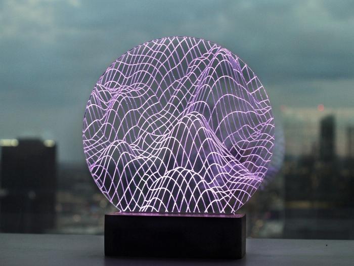 スマホと連動するスマートランプ「Pretty Smart Lamp」
