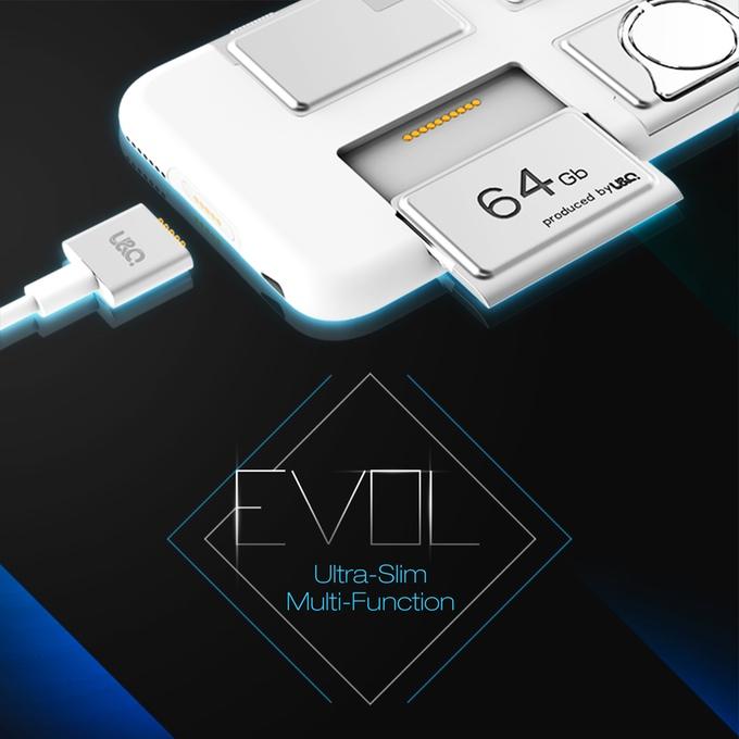 iPhoneの機能を劇的に強化するスリムケース「EVOL」