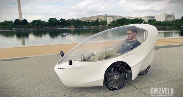 乗ってみたい!全天候型電動ベロモービル「GinzVelo」が楽しそう