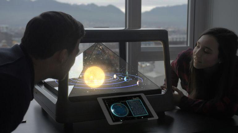 家庭で楽しめる3Dホログラムディスプレイ「Holus」がもう近未来!