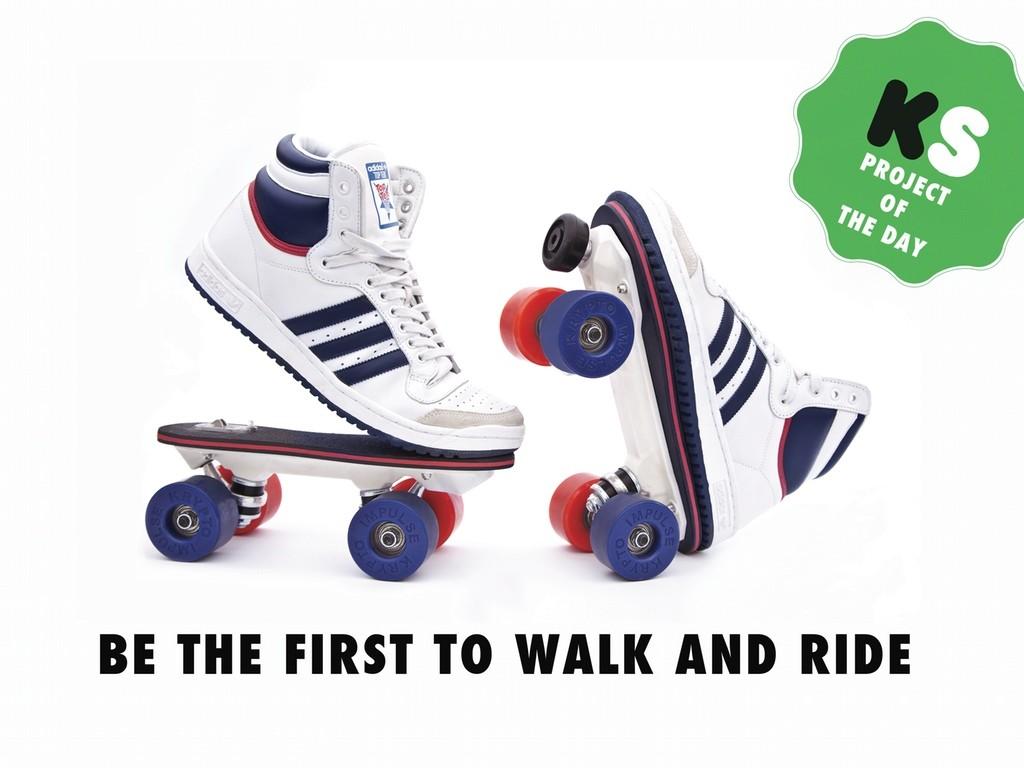 履いている靴がローラースケートになる!「On Wheelz」