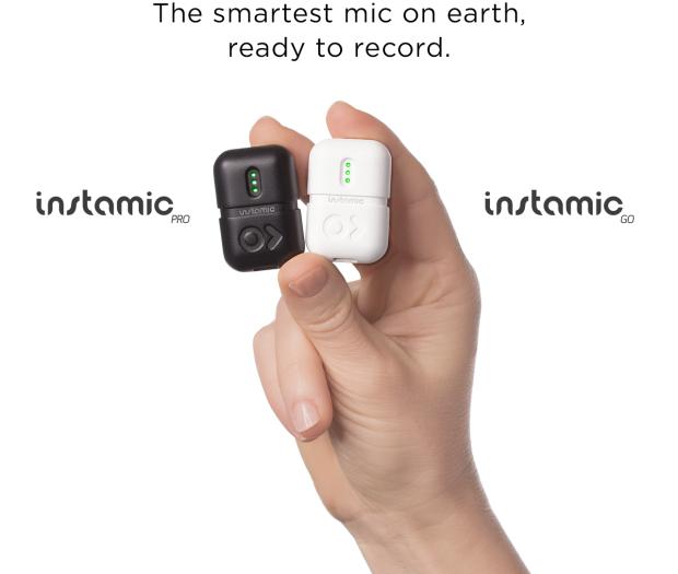 こんなに小さいのにプロ級の録音ができるアクションマイク「Instamic」
