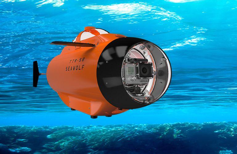 空撮の次は水中撮影! GoPro搭載可能なラジコン潜水艦「Seawolf」