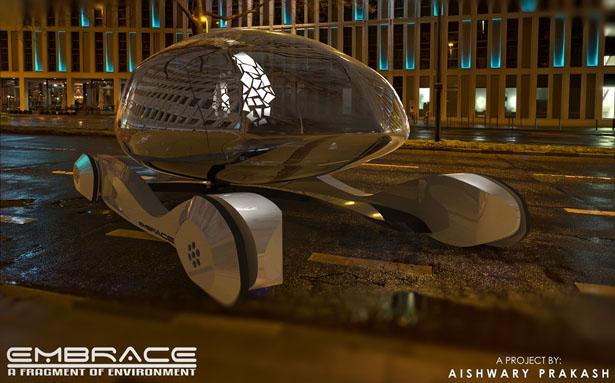 もう交通事故はなくなる?2040年、未来のガラス張りキャビンの全自動コンセプトカー