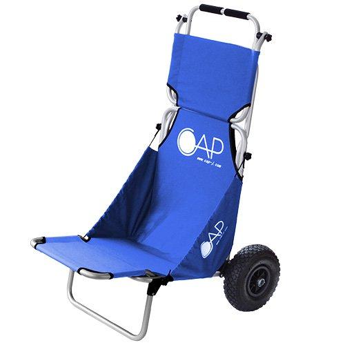 荷物も運べる車輪付き折りたたみ椅子「Buggy Chair」