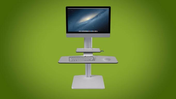 座りっぱなしから解放!あなたの机を立ち机へと変形させる「Sit2Stand Workstation」