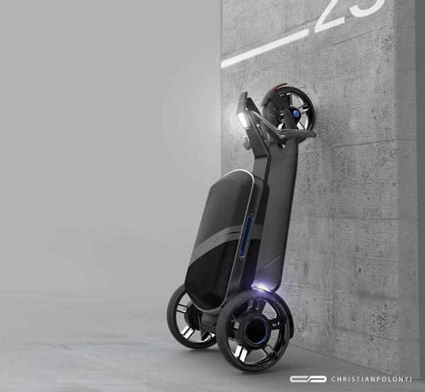スーツケースと電動スクーターが合体?新しいライフスタイルを提案するコンセプトデザイン「CityPorter」
