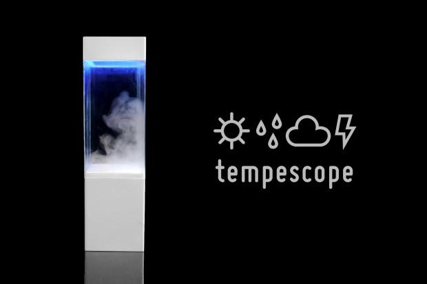 このリアル感がたまらない。部屋の中で天気を再現する気象ボックス「tempescope」