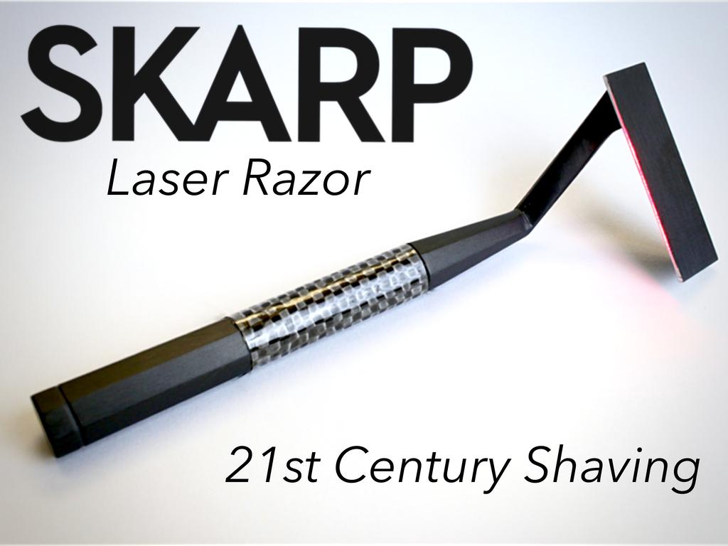 これはシェービング革命?レーザー光で剃るカミソリ「The Skarp Laser Razor」