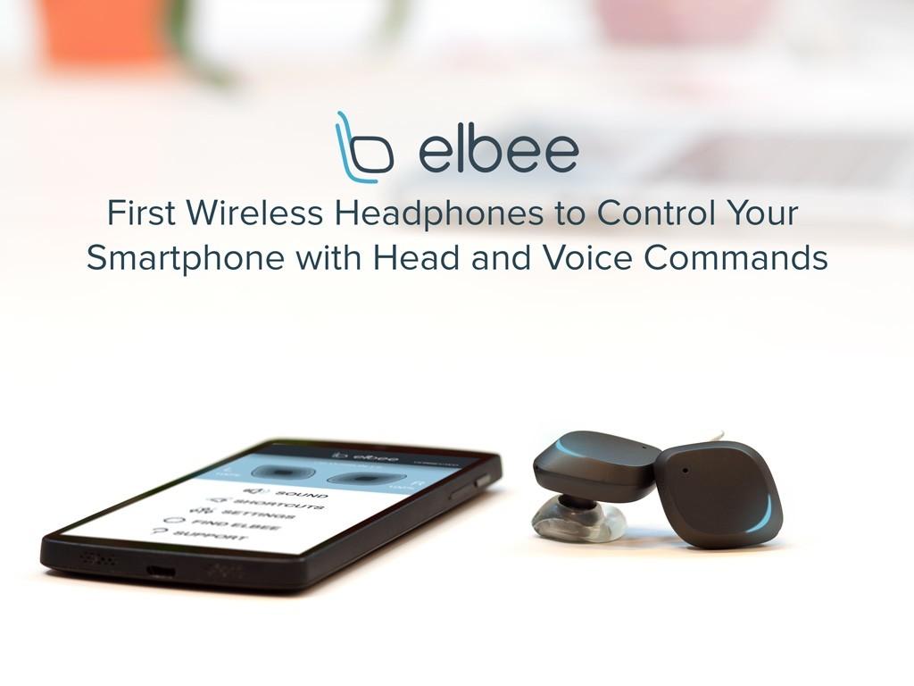 100%ハンズフリー!頭の動きと声でスマホをコントロールできるイヤホン「Elbee」