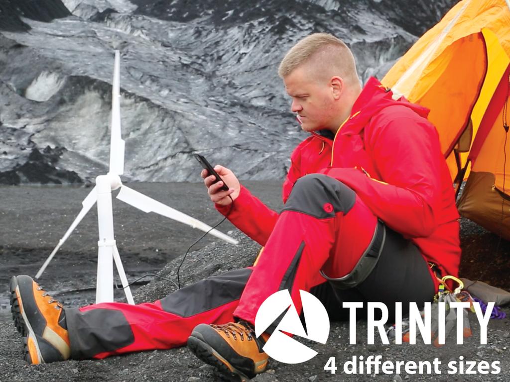 自分だけの風力発電!アイスランド発のモバイル風力発電バッテリー「Trinity」
