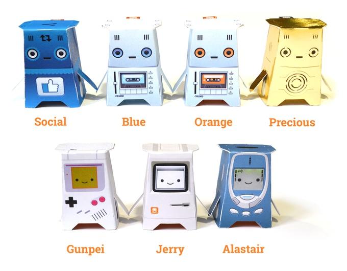 世界でもっともシンプルなロボット?5ポンドで何台もロボットが作れる「The Crafty Robot」