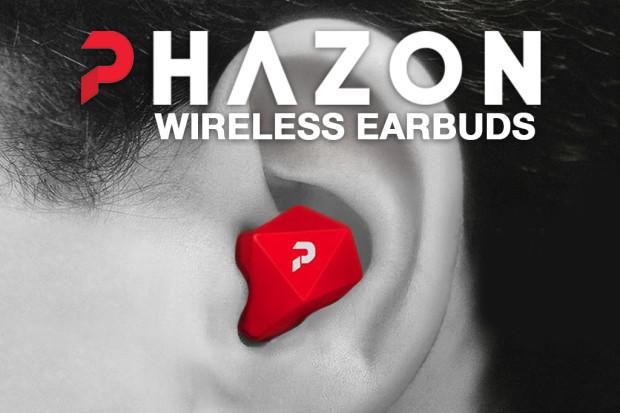 どんなスポーツでも絶対はずれない?左右独立Bluetoothイヤホン「Phazon」