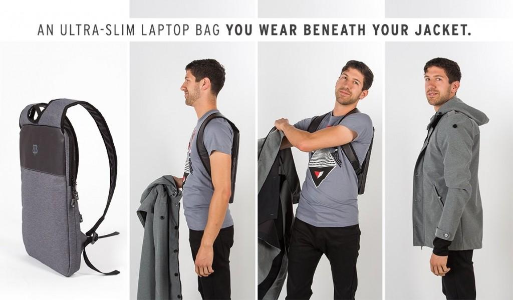 見えないPCバッグ登場?上着の下に背負えるノートPC用バックパック