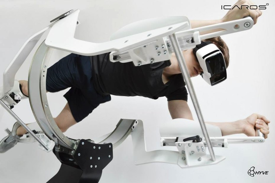 こんなトレーニング見たことない!自由に飛びながら体を鍛えるVRフィットネスマシーン