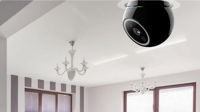 電球ソケットで簡単ホームセキュリティ!死角なしのロボットモニター「iCamPro Deluxe」