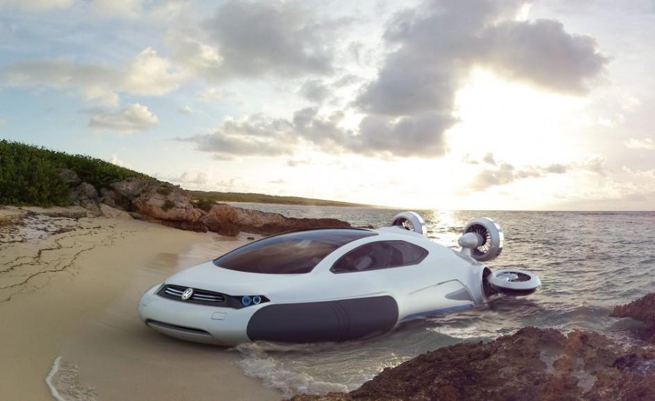 このフォルクスワーゲンに乗りたい!コンセプトホバークラフト「Aqua」の未来感がスゴい