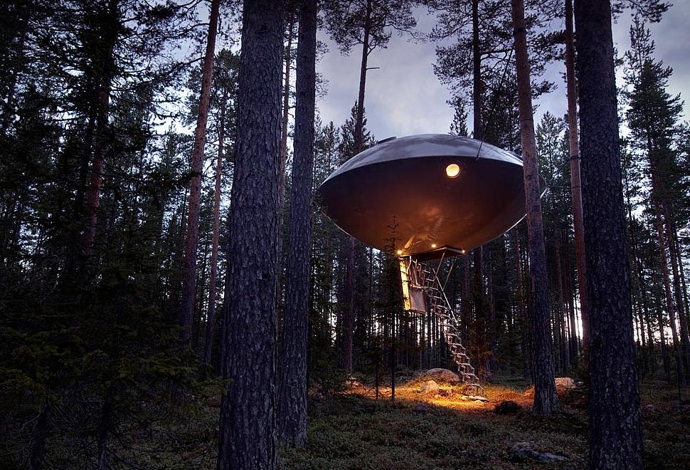 ゆ…UFO?いえいえ、れっきとしたホテルなんです