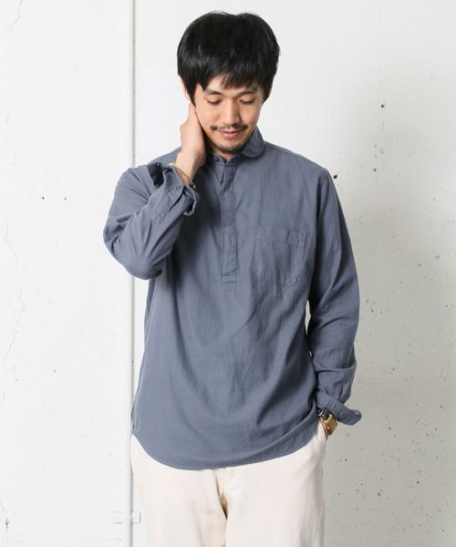 1枚で一味違うファッションを。人気ブランドの長袖プルオーバーシャツ15選【メンズ】
