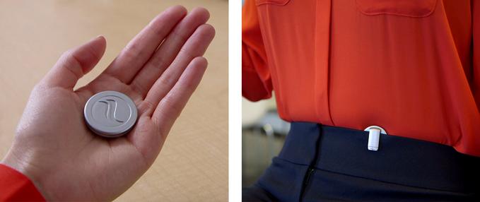 小さなコインでストレス解消?呼吸と姿勢をモニタリングし呼吸法も指導してくれる「Prana」