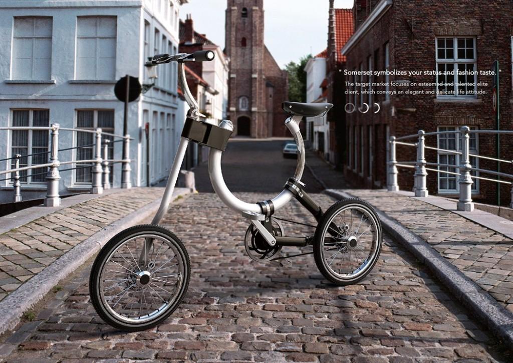 よりコンパクトでファッショナブルに!持ち運ぶ必要のない折りたたみ自転車「Somerset」