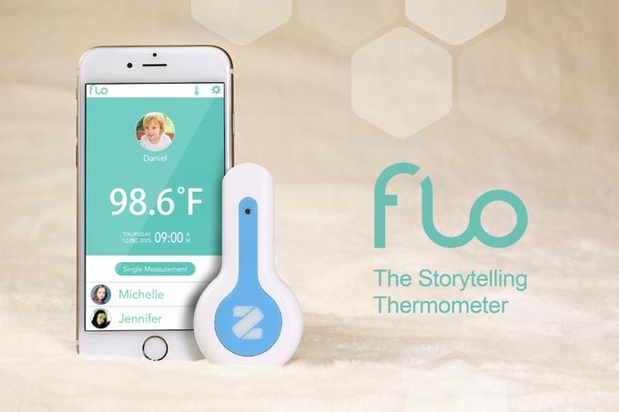手軽で便利!身体に触れることなく体温がチェックできる「Flo」