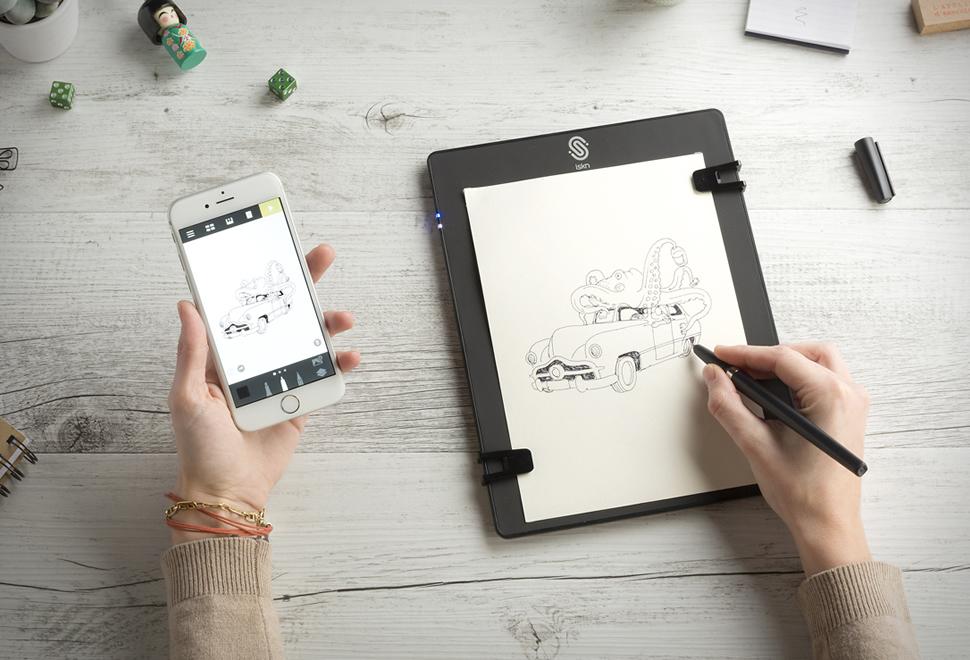 いつものペンで描ける!好きな紙に書くだけでiPad/iPhoneに転送される「The Slate」がイイかも