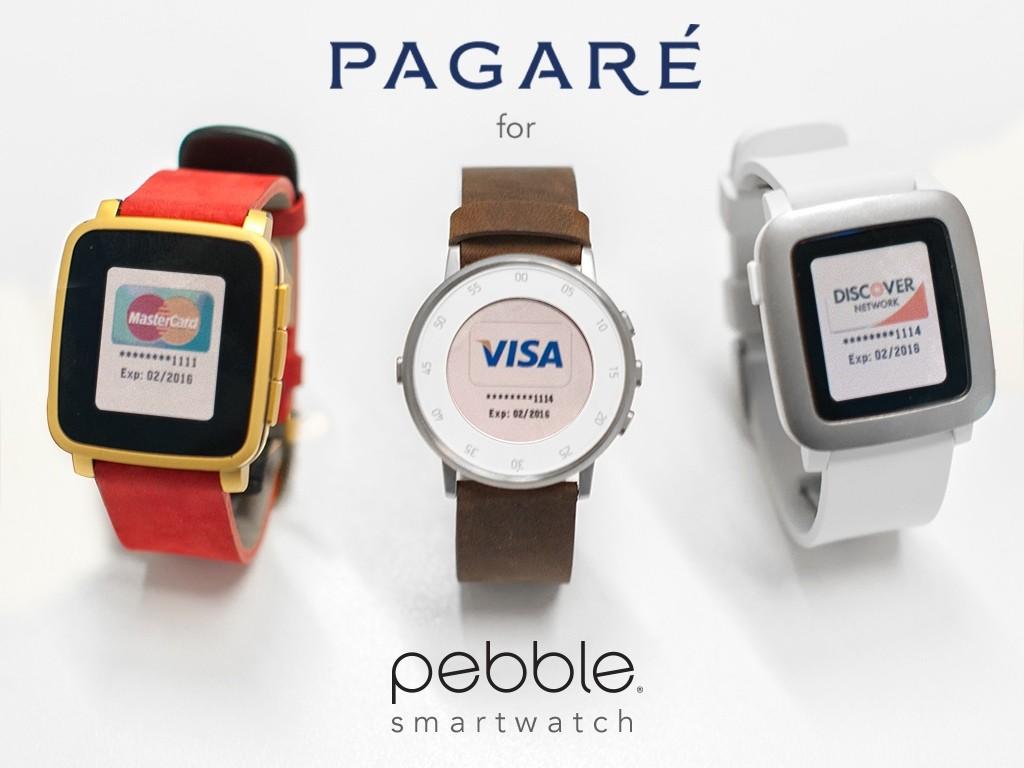 たったの10秒で!あなたのPebbleスマートウォッチをNFC決済対応にする「Pagare smartstrap」