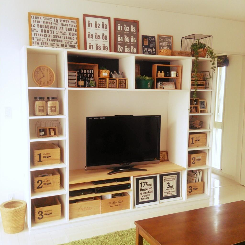 テレビは壁面収納が一番。参考にしたいコーデまとめました
