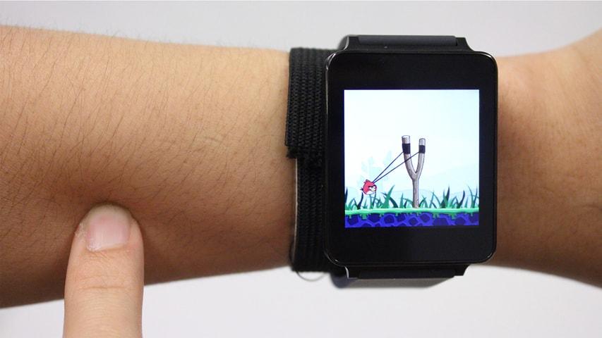 前腕がタッチスクリーンになる技術が未来すぎる