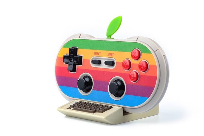 40周年Appleへのオマージュを込めて…ゲームパッドのただならぬレトロ感