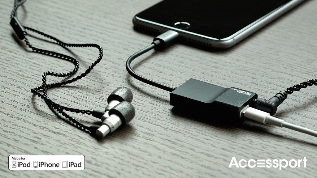 iPhone7でのイヤホン&充電OKの「Accessport」でハイレゾ楽しもう
