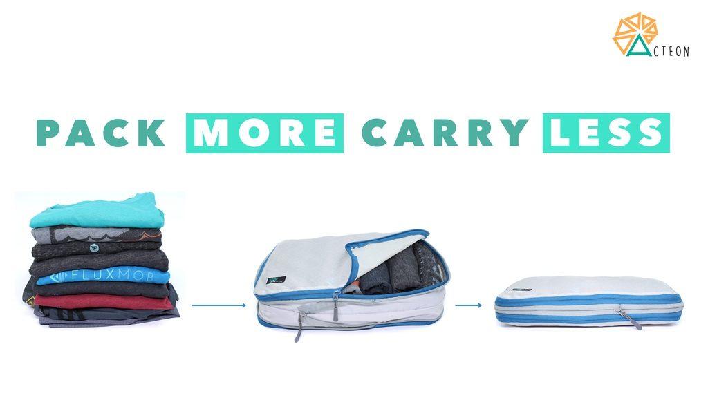 ギュッと衣服を55%圧縮!スペースを生み出す最強インナーバッグが超便利
