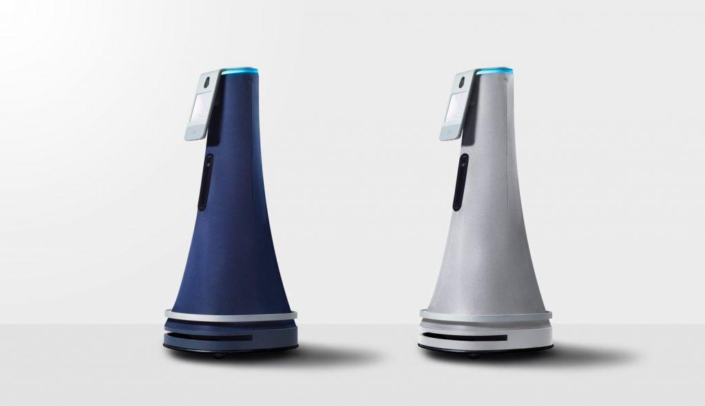 シックなデザインが美しい。AIロボットがオフィスを巡回する施設警備員に