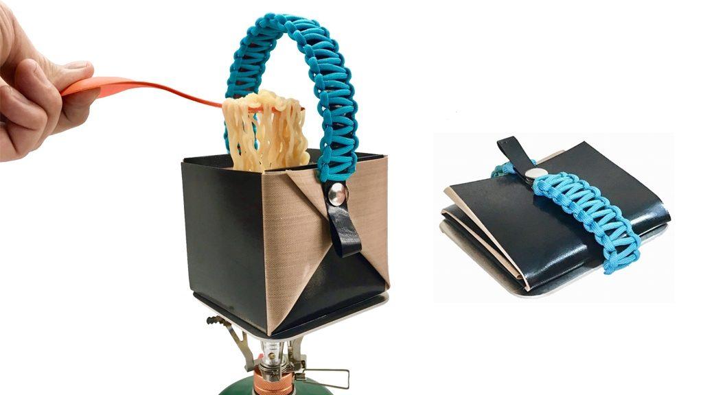 旅好き必見!防災用品にもなる財布サイズに折りたためるアウトドア食器