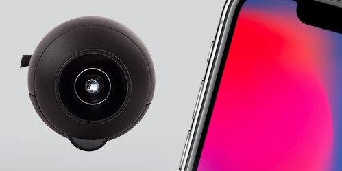 充電いらず!iPhoneで手軽に360度撮影の新ガジェット「Fishball」