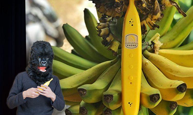 バナナで電話をする時代がやってきた。ゴリラも救える「バナナフォン」