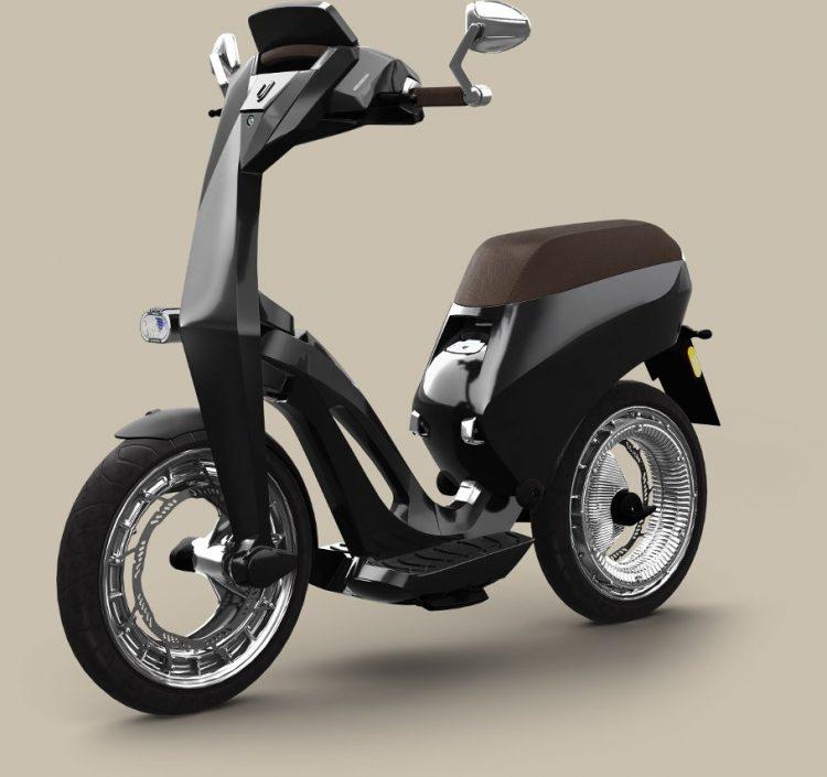 未来感あふれる折りたたみスマート電動バイク「Ujet」