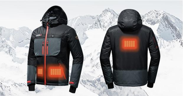 モバイルバッテリーで給電できるホットジャケット「Humbgo XG」