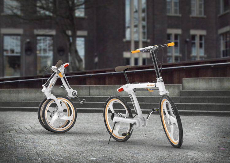 折りたたみ方に技あり。ミニマルデザインが光る折りたたみ自転車「Praxis」