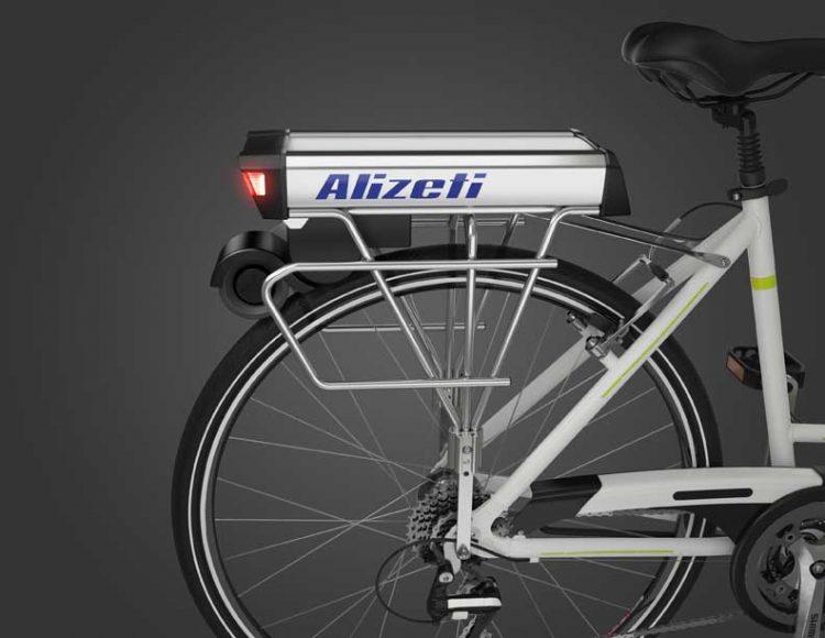 リアキャリア一体型電動自転車化キット「Alizeti 300C」。愛車を電動に