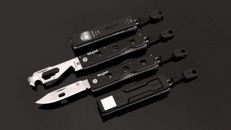 カスタマイズ可能なマルチツール「Anywhere Tools」。充電ケーブルも装備