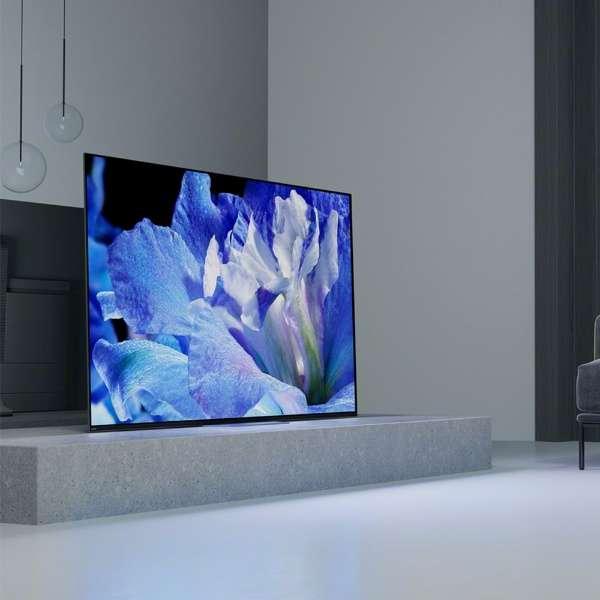 ソニーの新有機ELテレビ「A8F」。家庭でも使いやすいデザインや価格が魅力